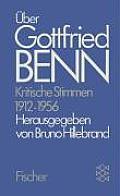 Uber Gottfried Benn Kritische Stimmen 1957 1986