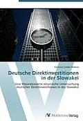 Deutsche Direktinvestitionen in Der Slowakei