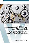 Intensitat Und Effektivitat Von Wissensarbeit