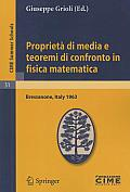 Proprieta Di Media E Teoremi Di Confronto in Fisica Matematica Lectures Given at the Centro Internazionale Matematico Estivo C I M E Held in Bress