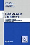 Logic, Language and Meaning