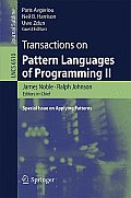 Transactions on Pattern Languages of Programming II: Special Issue on Applying Patterns