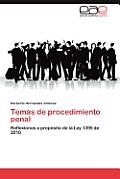 Temas de Procedimiento Penal