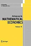 Advances in Mathematical Economics Volume 11