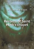 Records of Saint Mark's Chapel