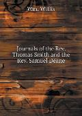 Journals of the Rev. Thomas Smith and the Rev. Samuel Deane
