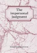 The Impersonal Judgment