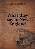 What They Say in New England
