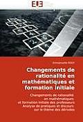 Changements de Rationalite En Mathematiques Et Formation Initiale
