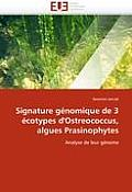 Signature G?nomique de 3 ?cotypes d'Ostreococcus, Algues Prasinophytes