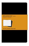 Moleskine Ruled Cahier Pocket Black Set of 3