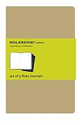Moleskine Plain Cahier Large Kraft Set of 3