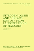 Nitrogen Losses and Surface Run-Off from Landspreading of Manures
