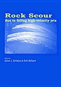 Rock scour due to falling high-velocity jets