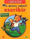 Yo Quiero Saber Escribir Preescolar Nive