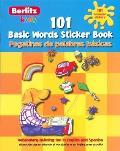 101 Basic Words Sticker Book 101 Pegatinas de Palabras Basicas With Stickers