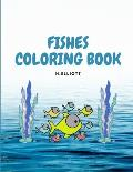 Fishes Coloring Book: Educative Fishes Coloring Book, Fishes Coloring Pages For Kids 4+, Boys and Girls, Fun And Unique Fishes Paperback