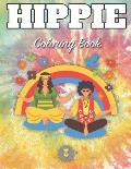 Hippie Coloring Book: Get a Fun with 33 Designs Inspired Peace, Love, and Positive Minded