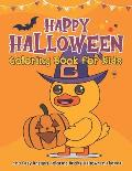 Happy Halloween Coloring Book for Kids: 100 Easy Designs Coloring Books Halloween Themed for Toddler Boys & Girls Ages 2-4, 3-5 Preschool - Large Prin